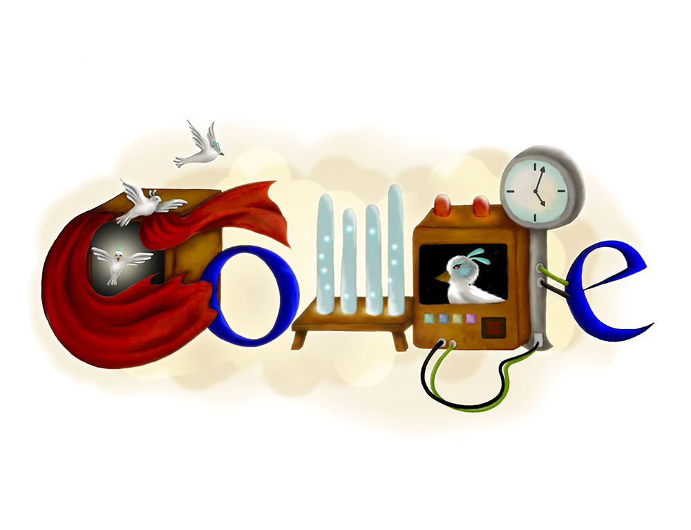 Doodle 4 Google 2010 Entry. Welcome Come Back Friends. State Finalist Award.